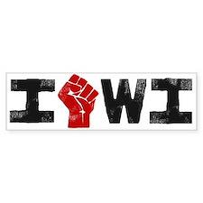 Solidarity Wisconsin Car Sticker