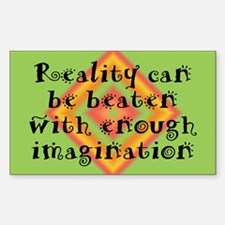 Reality Can be Beaten Sticker (Rectangle)