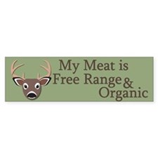 Free Range and Organic Bumper Sticker