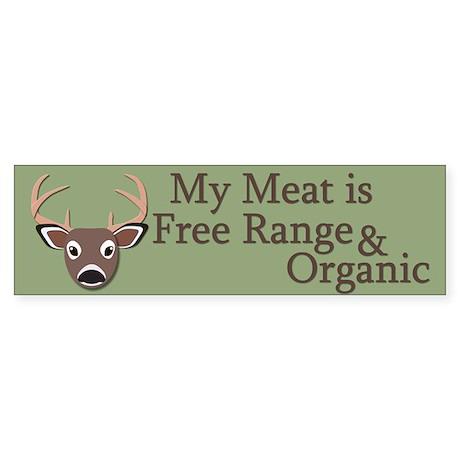 Free Range and Organic Sticker (Bumper)