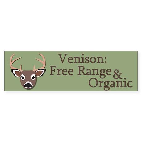 Venison: Free Range and Organic Sticker (Bumper)