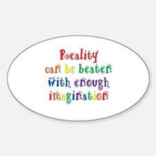 Reality Can be Beaten Sticker (Oval)