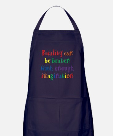 Reality Can be Beaten Apron (dark)