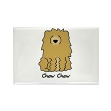 Cartoon Chow Chow Rectangle Magnet