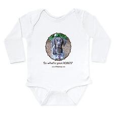 your POINT? Long Sleeve Infant Bodysuit