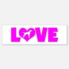 LOVE POINTER Bumper Bumper Sticker
