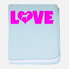 LOVE PLOTT HOUND baby blanket