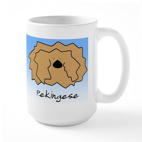 Cartoon Pekingese Large Mug