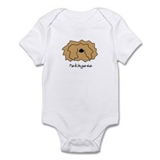 Cartoon Pekingese Baby Bodysuit