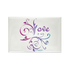 Love French Curve Rectangle Magnet (10 pack)