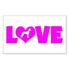 LOVE PHARAOH HOUND Decal