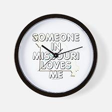 Someone in Missouri Wall Clock