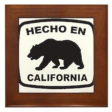 Cute Made in california Framed Tile