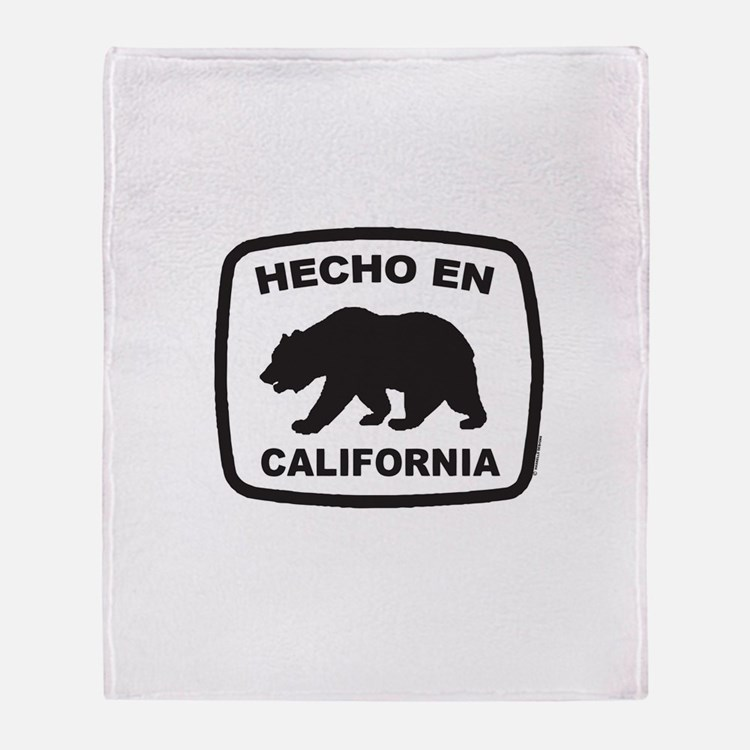 Cute Made in california Throw Blanket