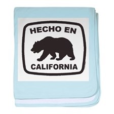 Cute Made in california baby blanket