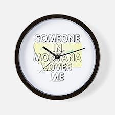 Someone in Montana Wall Clock