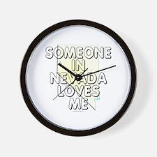 Someone in Nevada Wall Clock