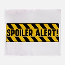 Spoiler Alert Throw Blanket