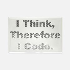 """""""Think --> Code"""" Rectangle Magnet"""