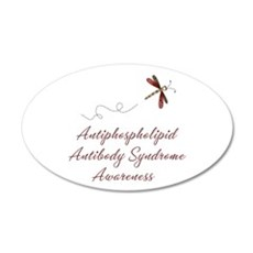 APS Awareness Dragonfly 22x14 Oval Wall Peel