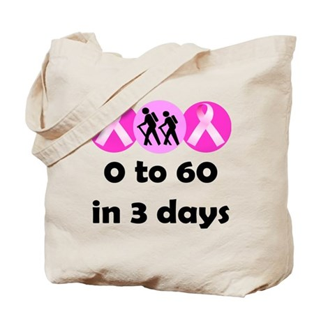 0 to 60 in 3 days Tote Bag