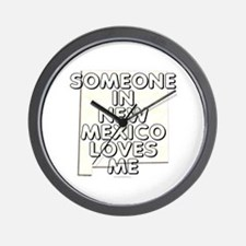 Someone in New Mexico Wall Clock
