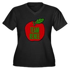 Team Renee Women's Plus Size V-Neck Dark T-Shirt