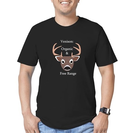 Venison: Free Range & Organic Men's Fitted T-Shirt