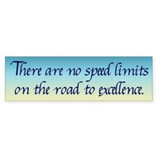 Road to Excellence Bumper Sticker