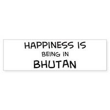 Happiness is Bhutan Bumper Bumper Sticker