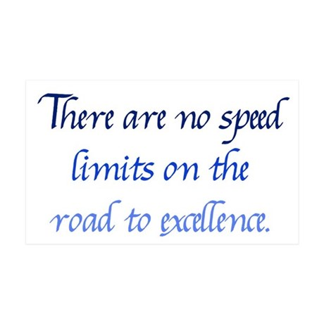 Road to Excellence 35x21 Wall Decal