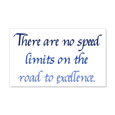 Road to Excellence 20x12 Wall Decal