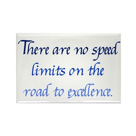 Road to Excellence Rectangle Magnet (100 pack)