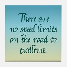 Road to Excellence Tile Coaster