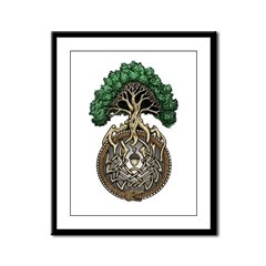 Ouroboros Tree Framed Panel Print