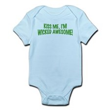 Kiss Me I'm Wicked Awesome Infant Bodysuit