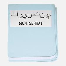 Montserrat in Arabic baby blanket