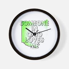 Someone in Ohio Wall Clock