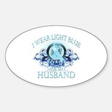 I Wear Light Blue for my Husband (floral) Decal