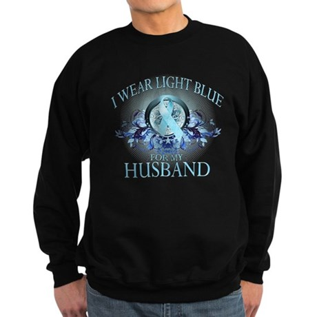 I Wear Light Blue for my Husband (floral) Sweatshi