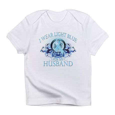 I Wear Light Blue for my Husband (floral) Infant T