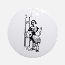 Chained to Cigarettes Ornament (Round)