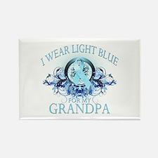 I Wear Light Blue for my Grandpa (floral) Rectangl