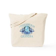 I Wear Light Blue for my Grandpa (floral) Tote Bag