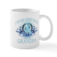 I Wear Light Blue for my Grandpa (floral) Mug