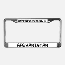 Happiness is Afghanistan License Plate Frame