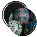 "Pysanky Group, Blues 2.25"" Magnet (10 pack)"