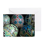 Pysanky Group, Blues Greeting Cards (Pk of 10)