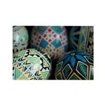 Pysanky Group, Blues Rectangle Magnet