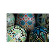 Pysanky Group, Blues Rectangle Magnet (10 pack)